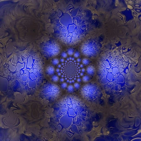 Abstract fractal in blue colors. 3D rendering Archivio Fotografico - 150654891