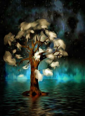 Tree of clouds Stockfoto