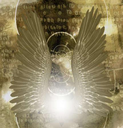 Angel wings. Spiritual art. 3D rendering Stock fotó