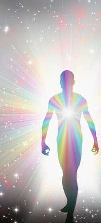 Human Soul or Spirit. 3D rendering