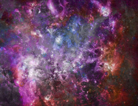 Colorful endless space. 3D rendering
