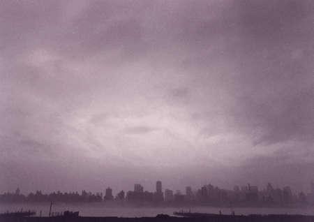 New York City waterfront. Panorama. 3D rendering Banco de Imagens