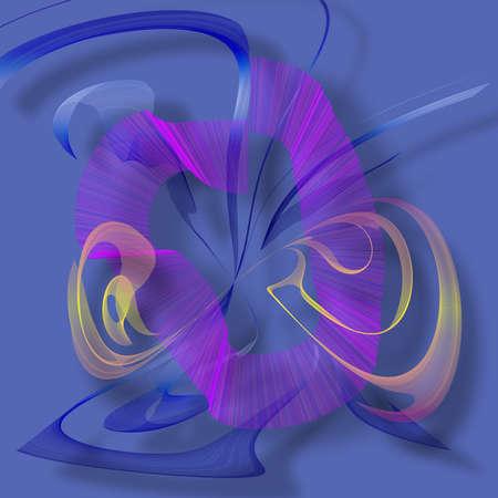 Fluid color movement. Modern digital art. 3D rendering