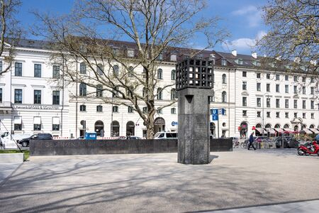 Germany, Bavaria, Munich, Maximilianplatz: Central place in memory of the victims of German National Socialism in the city center of the Bavarian capital. April 22, 2016 Editorial