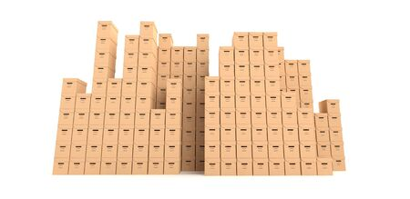 multiple cardboard boxes Stock Photo - 10494662