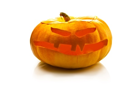 halloween pumpkin on white background photo
