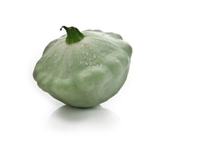 light green patisson on white background Stock Photo - 10513007