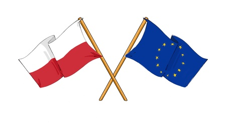 Poland and European Union alliance and friendship