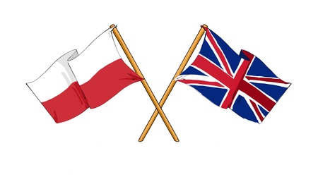 Polish - British alliance and friendship Imagens