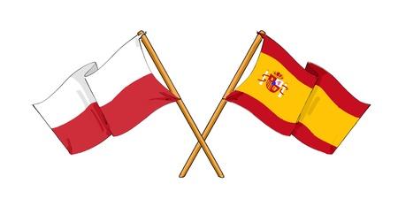Polish - Spanish alliance and friendship Stock Photo - 10818305