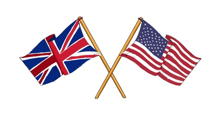 great britain flag: American and British alliance and friendship Stock Photo
