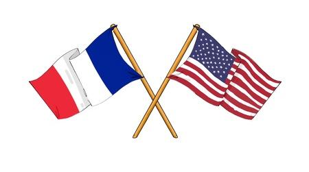 Amerikanischen und Französisch Allianz und Freundschaft