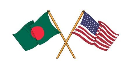 Latina y Bangladesh - la alianza y la amistad Foto de archivo - 11365198