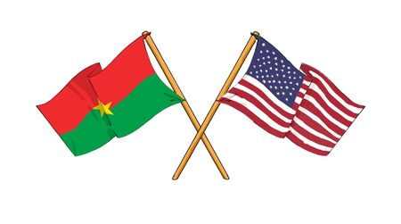 burkina faso: America and Burkina Faso - alliance and friendship Stock Photo