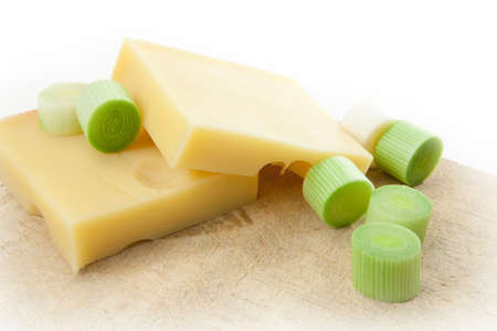 cheeseboard: swiss edam cheese on cheeseboard