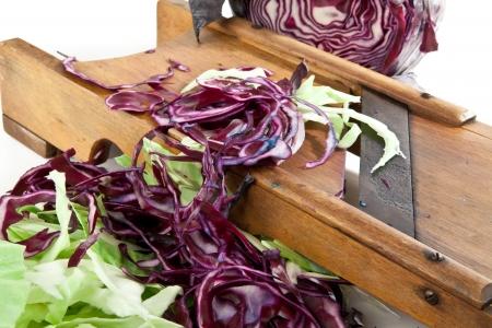 vintage cabbage slicer close-up