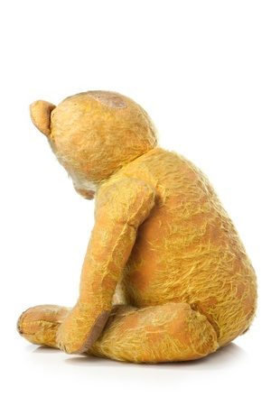 acknowledgment: old and sad teddy bear