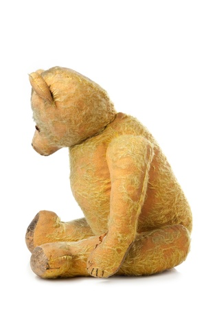 childchood: vintage toy on white background Stock Photo