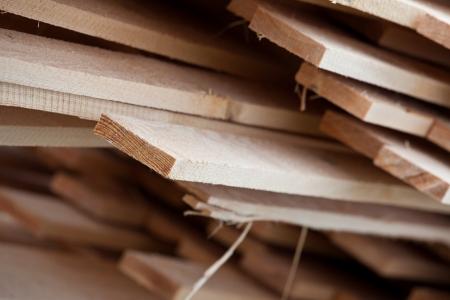 carpenter's sawdust: wood close-up Stock Photo