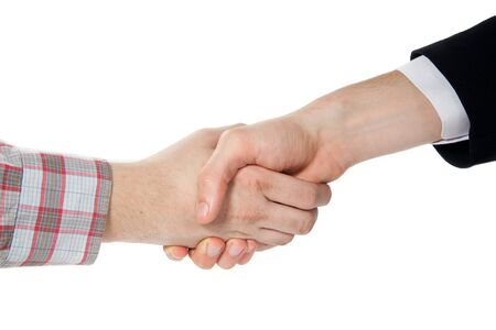 handshake between a farmer and a businessman Stock Photo - 15163429