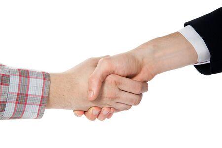 consensus: handshake between a farmer and a businessman