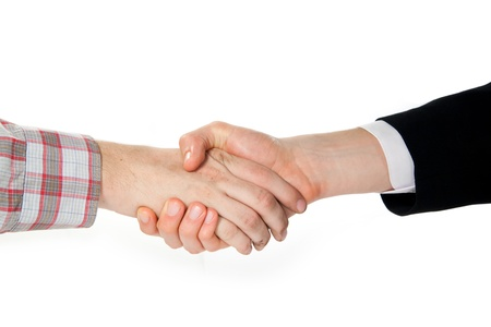 handshake between a farmer and a businessman Stock Photo - 15163408