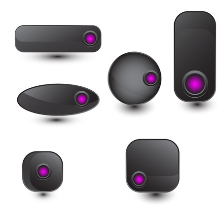 blank button: the vector set of web buttons for you design project