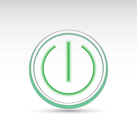 green power: vector green power icon for you design