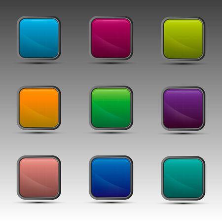 Different colorful squares Ilustrace