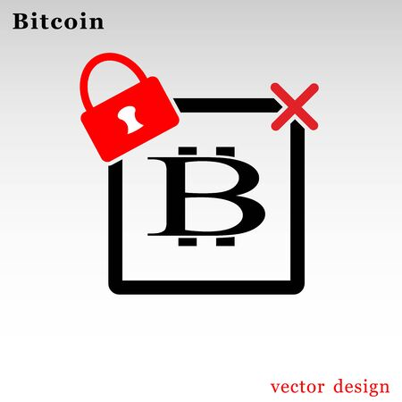 Bitcoin cryptocurrency square logo
