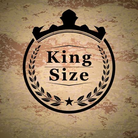 king size: King size emblem Illustration