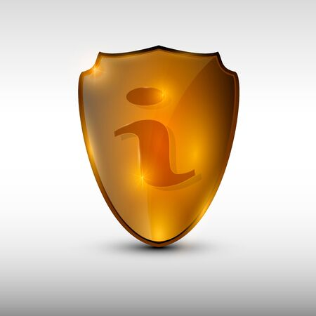 Information orange logo Çizim