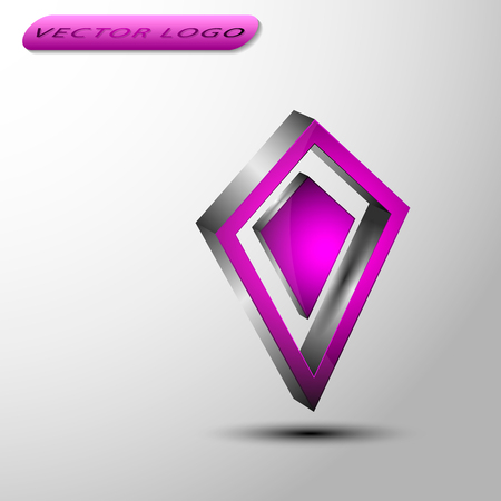 The vector 3d dimond.