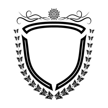 The vector isolated heraldic shield retro decoration elements. Stock Vector - 100676888