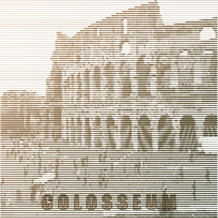 Vector stylized Coliseum poster.