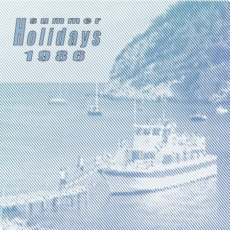 Summer holidays.Vector retro poster Illustration