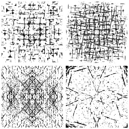 vector set of grunge distressed texture.Abstract background