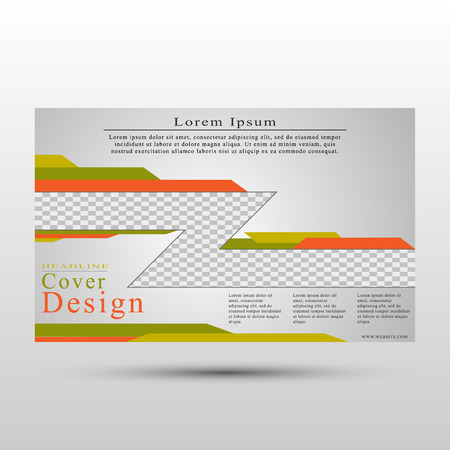 The vector conceptual cover template for presentations, reports, advertisements, flyers