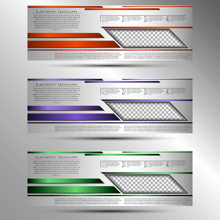 The vector set of conceptual cover template for presentations, reports, advertisements, flyers Çizim