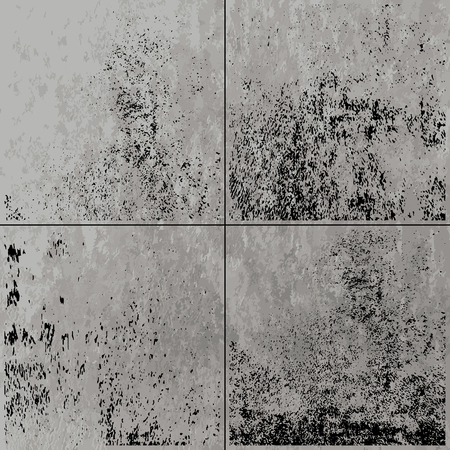 Set of grunge distressed texture.Template background
