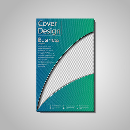 The vector conceptual cover design template for business