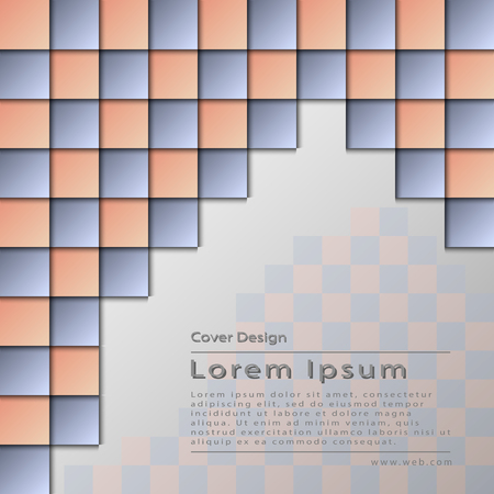The vector conceptual abstract cover template.Bbrochure,flyer,presentation.Soft colors square Çizim