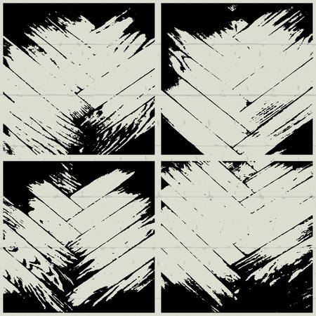 vector set of grunge parquet texture on a coloreed background