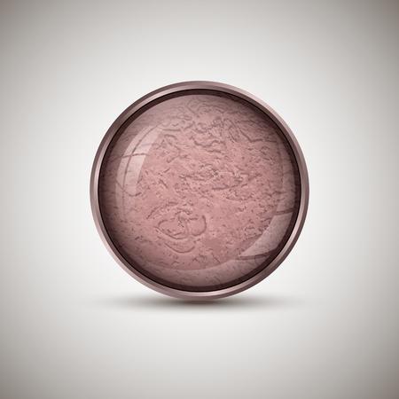 Vector textured button with metallic stroke.Web design Çizim