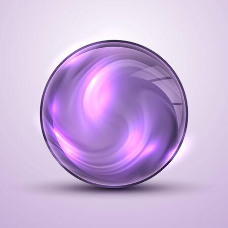 Il vettore realistico 3d sphere.Vibrant color.Fluid design Vettoriali