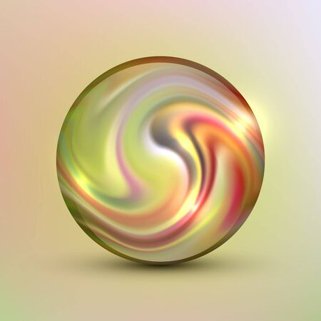 The vector realistic 3d sphere.Vibrant color.Fluid design
