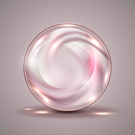 The vector realistic 3d sphere.Fluid mixed colors