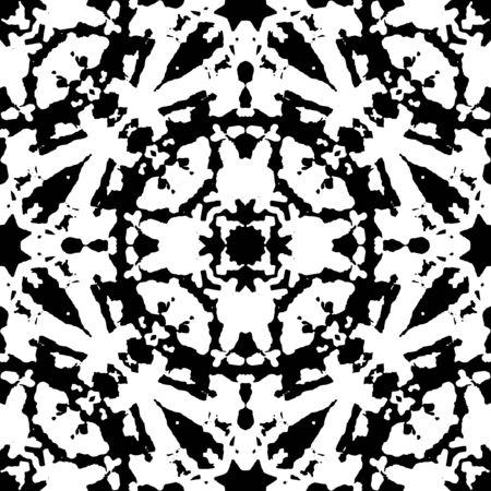Vector black and white pattern for different decorative design.