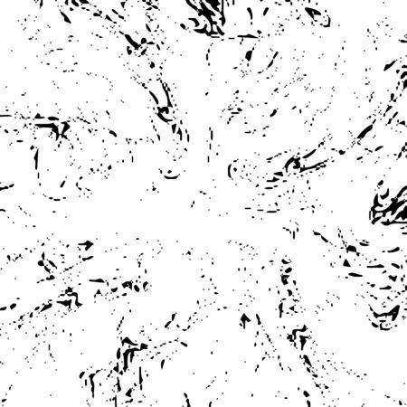 Grunge distress texture.Vector abstract background.Black and white pattern Ilustración de vector