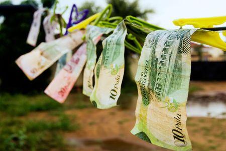 lost money: money laundry Stock Photo